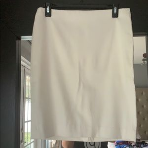 Banana republic white patterned lined pencil skirt